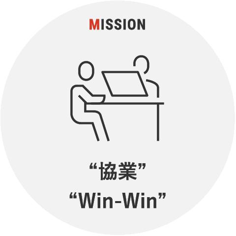 """""""協業""""""""Win-Win"""""""